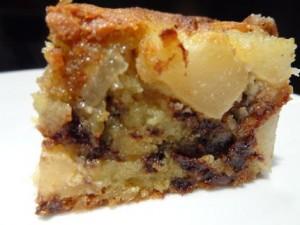 gâteau amande poire choco dans dessert poire-300x225